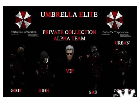 Umbrella Elite Alpha Team - модели игроков для Counter-Strike